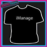 I MANAGE MANAGER SPORTS GIFT FUNNY SLOGAN TSHIRT
